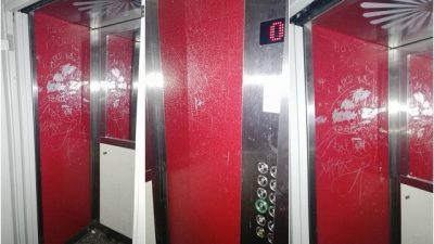 ФОТО: Несовесни студенти ги уништуваат новите лифтови во студентските домови