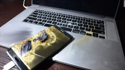 Мобилните се повеќе горат ! Стопирана продажбата на контроверзниот Galaxy Note 7 !