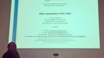 Професор на УГД визитинг предавач на Универзитетот во Торино
