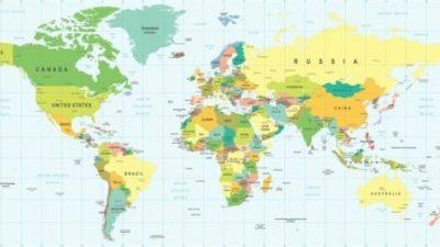 На картата на светот има едно животно, дали го гледате?