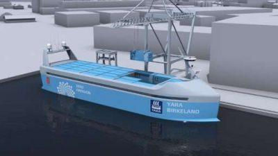 Норвешка ќе го гради првиот електричен беспилотен товарен брод во светот
