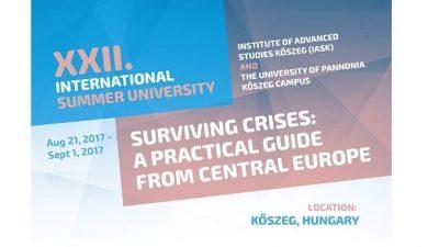 Повик за аплицирање, Меѓународен летен универзитет во Унгарија