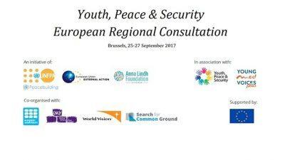 Повик за аплицирање, Европски регионални консултации за млади, мир и безбедност во Брисел, Белгија