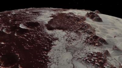 Панoрамски лет над Плутон
