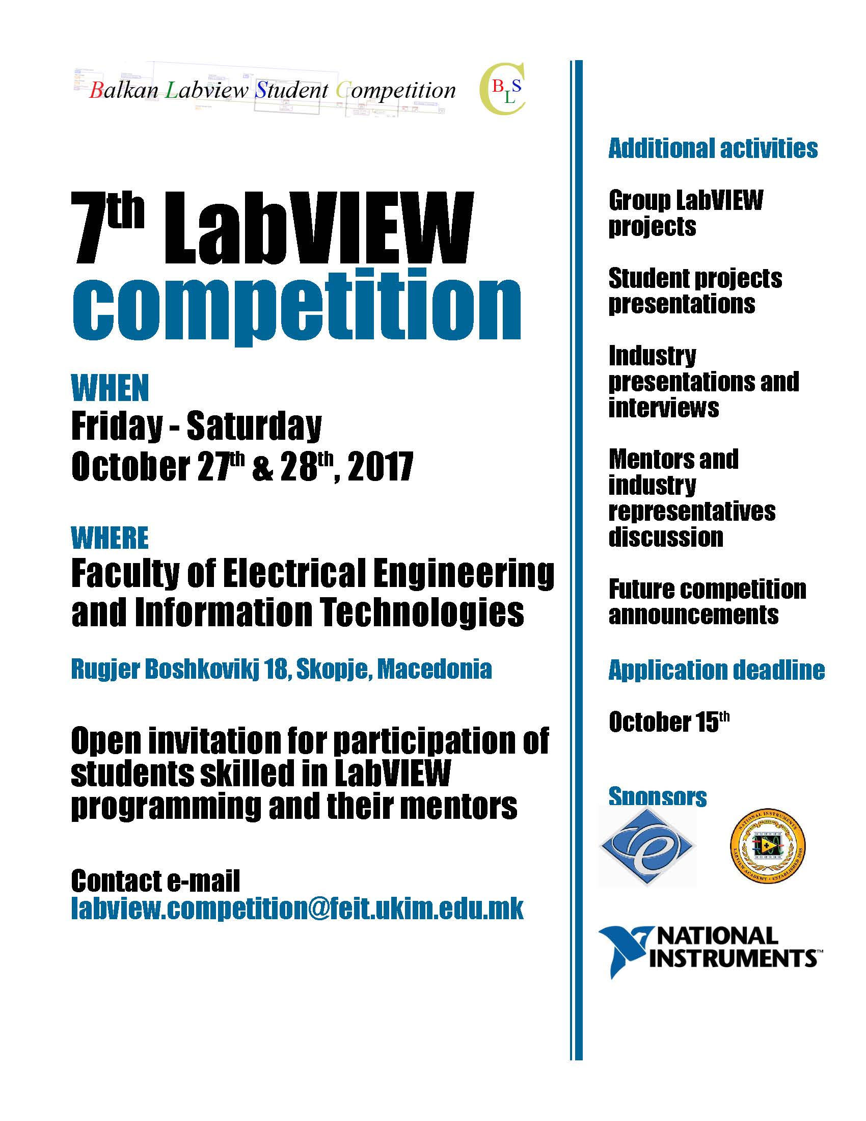 LabVIEW competition FEEIT 2017