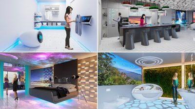 """""""Паметни"""" огледала, фрижидери кои готват: Како ќе изгледаат домовите во 2040-та?"""