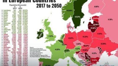 ЦИА предвидува колку жители ќе има Македонија до 2050 година