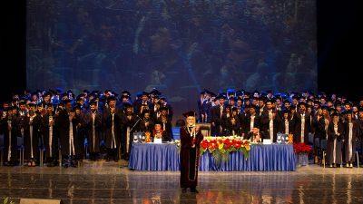 """Под мотото: """"11 години посветени на знаењето"""" се одржа свечена промоција на дипломирани студенти и магистри на Универзитетот за туризам и менаџмент во Скопје"""