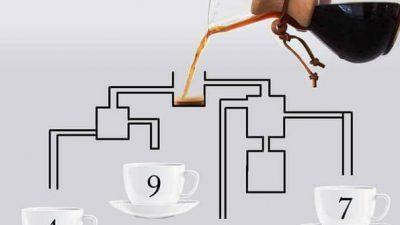 Решете ја оваа загатка што го збуни сите на Интернет: Која шолја прва ќе се наполни со кафе?