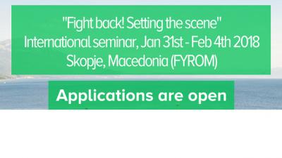 """JEF Европа – Меѓународен семинар """"Бори се! Поставување на сцената"""" во Скопје, Македонија"""
