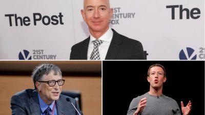 Најбогатите луѓе во светот додале 1.000 милијарди долари на своите сметки во 2017-та година!