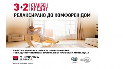 Нов станбен кредит со 5 години фиксна каматна стапка од Охридска банка Сосиете Женерал