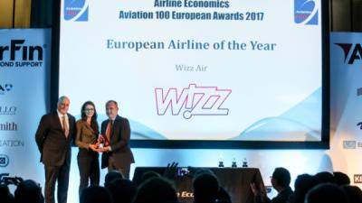 Wizz Air прогласена за најдобар авиопревозник во Европа за 2017 година