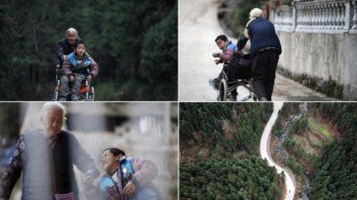 ВИДЕО:Баба го турка своето хендикепирано внуче секој ден 24 километри до училиште