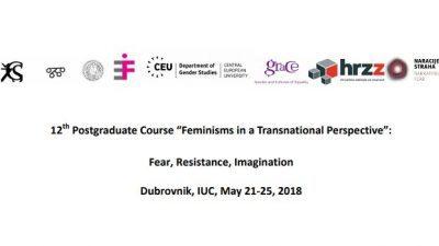 """Повик за апликации, """"Феминизми во транснационална перспектива"""": Страв, отпор, имагинација"""