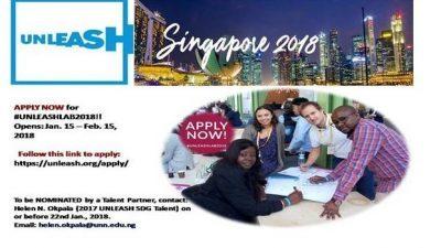 Повик за апликации, UNLEASH награди во Сингапур 2018