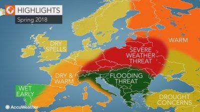 Метеоролозите прогнозираат бури и поплави на Балканот на пролет
