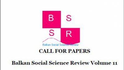 "УГД: Повик за научни трудови за ""Balkan Social Science Review"""