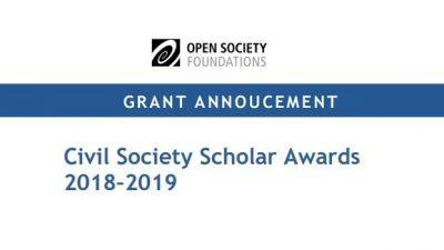 Повик за аплицирање, Награди за граѓанско општество 2018-2019