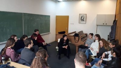 Одржан семинар за студентите од катедрата по ПОПУЛАРНИ ЖАНРОВИ на ФМУ – Скопје