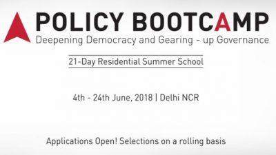 Повик за апликации, Policy BootCamp 2018 во Делхи, Индија