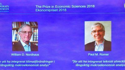"""Американски економисти ја добија Нобеловата награда за нивната работа на """"долгорочен одржлив раст"""""""