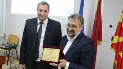 ФПТН му додели Признание за посебен придонес на академик Блажо Боев