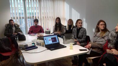 Студентите од УАКС во посета на финансиски институции