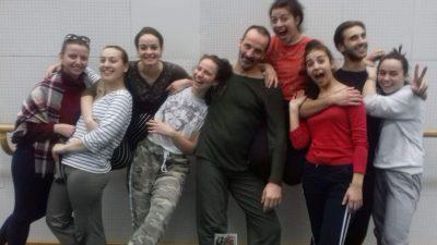 Реализирана работилница со проф. Грегор Камникар од Словенија со студенти од студиската програма по балетска педагогија – современ танц на ФМУ – Скопје