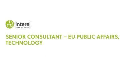 Senior consultant – EU public affairs, technology