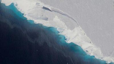Дупка со големина на половина Менхетен откриена на Антарктикот