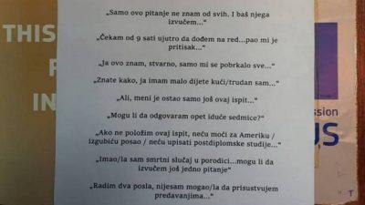Еве што професорка во Подгорица им порачува на студентите пред испит