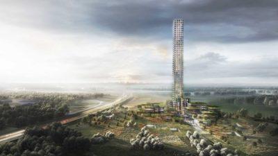 Се гради облакодер во мал град во Данска