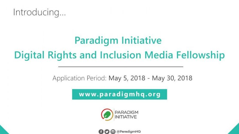 Digital rights and inclusion media fellowship