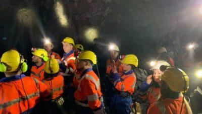 """Студентите од ФПТН во посета на Рудникот """"Саса"""""""