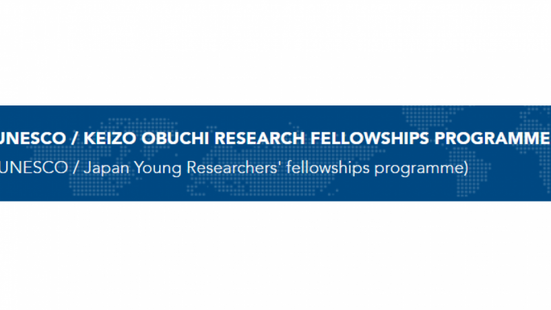 Unesco/Japan young researchers fellowship programme