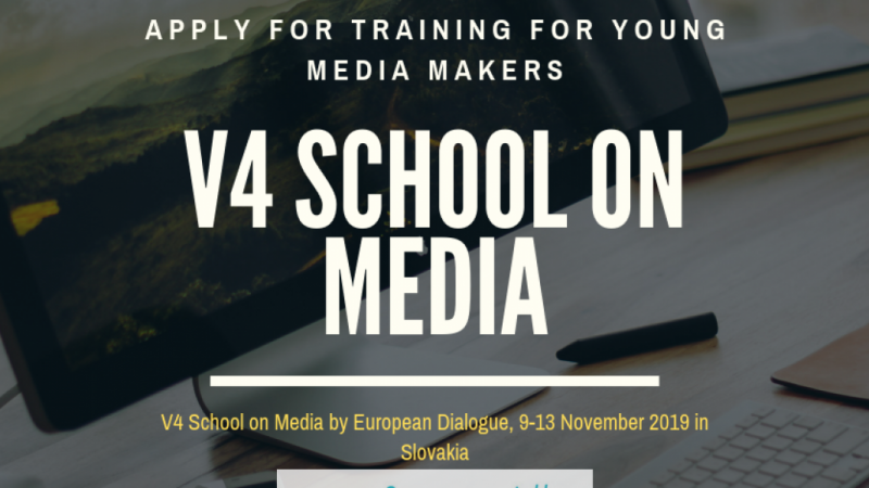 V4 fall school on media in Slovakia