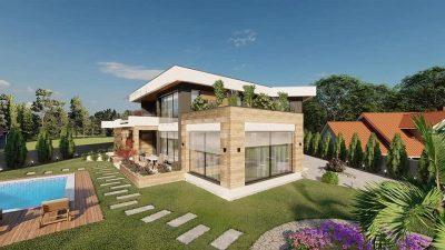 Елитни населби во Скопје- куќи со базени, голем двор, мир, камери