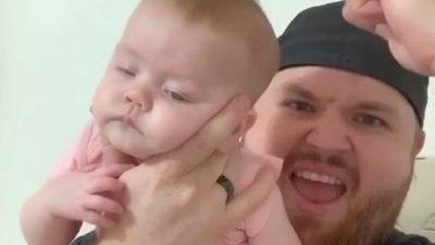 Татко открил неверојатен трик како веднаш да заспие бебе, сите шокирани (ВИДЕО)