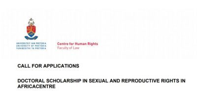 Doctoral Scholarship in Sexual and Reproductive Rights in Africa