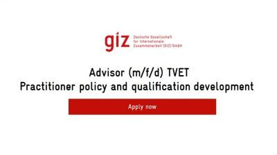 Advisor (m/f/d) TVET Practitioner policy and qualification development