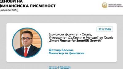 Предавање на Министерот за финансии Фатмир Бесими – …