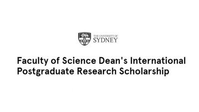 The University of Sydney Faculty of Science Dean's International Postgraduate Research Scholarship