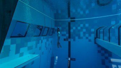 Во Полска отворен најдлабокиот базен на светот (видео)