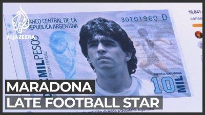 Наскоро банкнота со ликот на Марадона