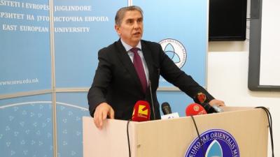 Ректорот Беџети на прес-конференцијата: УЈИЕ е единствен во земјава и во регионов со зголемување на бројот на запишани студенти