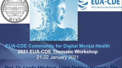 2021 Тематска работилница на Советот за докторско образование – Европска Асоцијација на универзитети (EUA-CDE): Вештачка интелигенција, менаџирање со податоци и дигиталниот свет на докторското образование