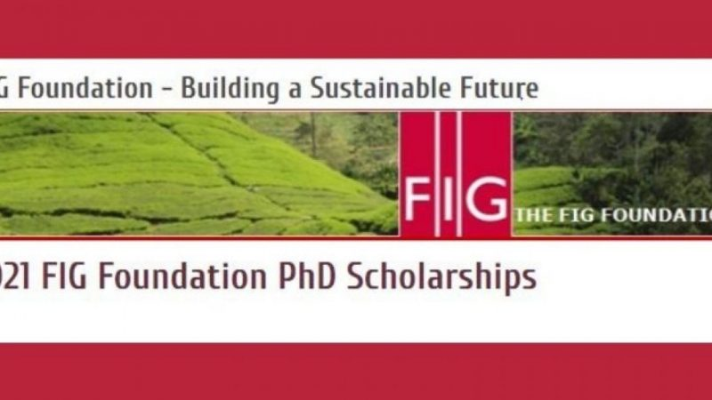 FIG FOUNDATION PH.D. SCHOLARSHIP 2021