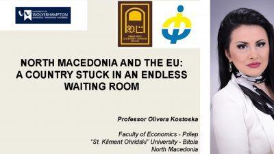 Гостувачко предавање на Универзитетот во Волверхемптон на проф. д-р Оливера Костоска