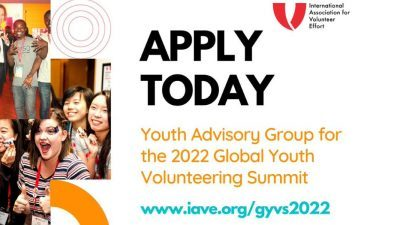 Join the Youth Advisory Group for the IAVE's Global Youth Volunteering Summit 2022